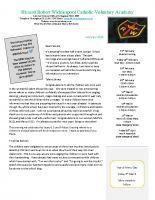 BRW Newsletter 11th Feb 2016
