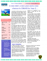 Yr 2 Autumn Newsletter 2015