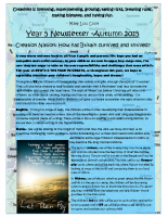 Yr 5 Autumn Newsletter 2015