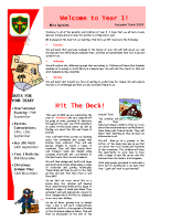 Yr 1 Autumn Newsletter 2014