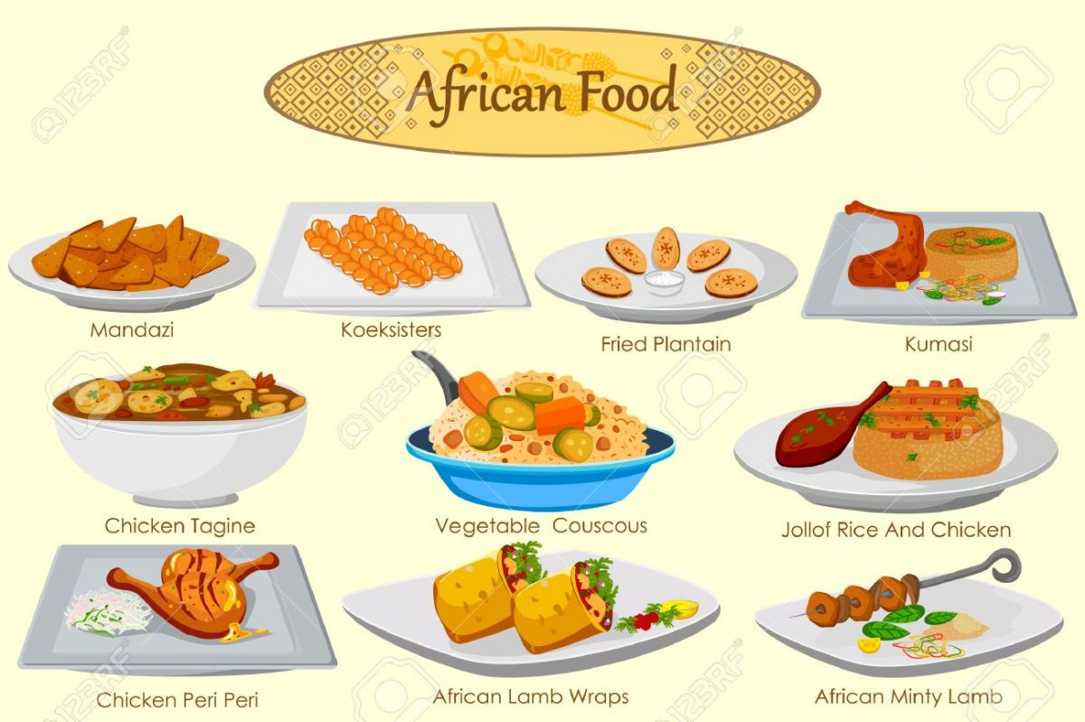54439915-collection-of-delicious-african-food-in-vector