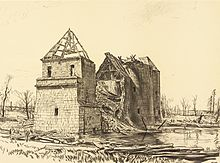 War_Drawings_by_Muirhead_Bone-_Chateau_near_Brie_on_the_Somme_Art.IWMREPRO00068459