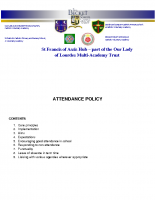 OLOL – Attendance Policy 2019