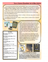 Year 5 Autumn 2019 Newsletter